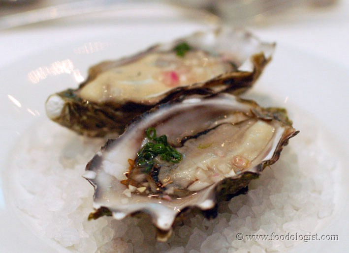 Oysters with Chardonnay Dressing